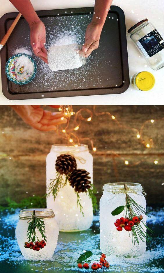 Новогодние украшения из ничего - подборка идей с фото (17)