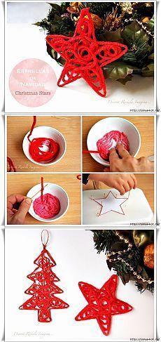 Новогодние украшения из ничего - подборка идей с фото (7)
