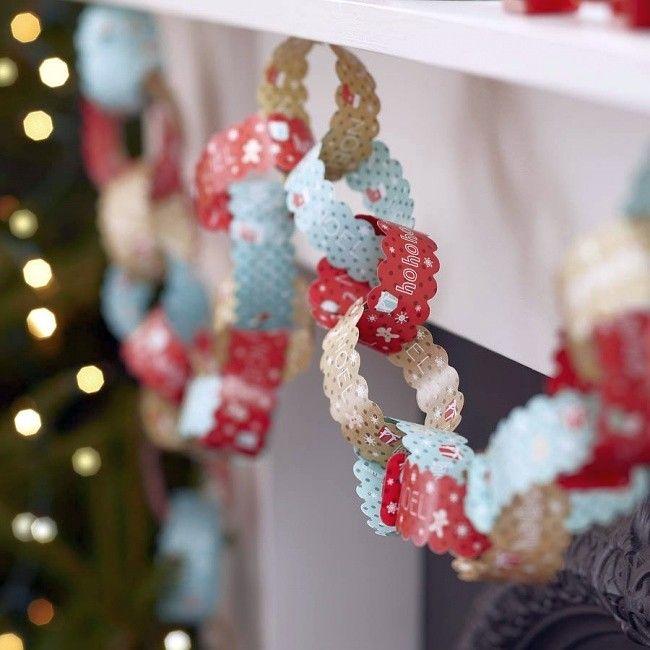 Новогодние украшения из ничего - подборка идей с фото (8)