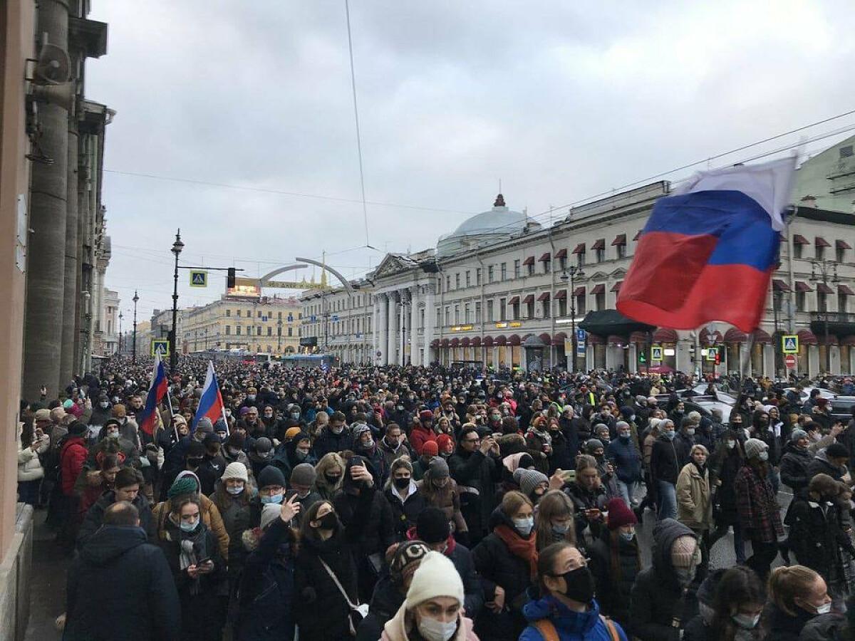 Акция протеста 23 января 2021 года в России фото (1)