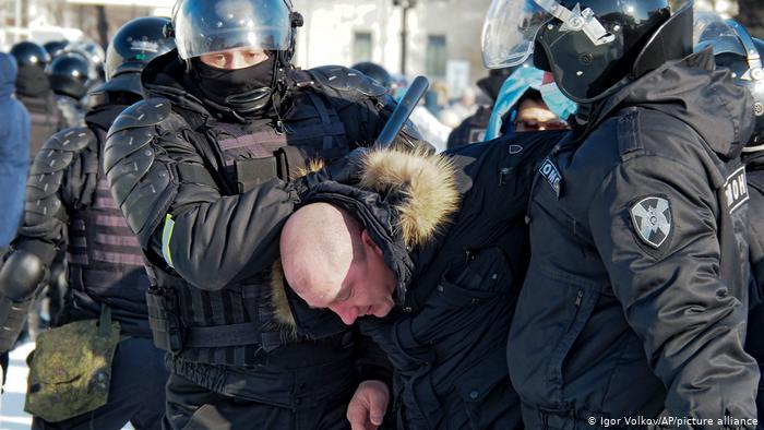 Акция протеста 23 января 2021 года в России - фото (3)