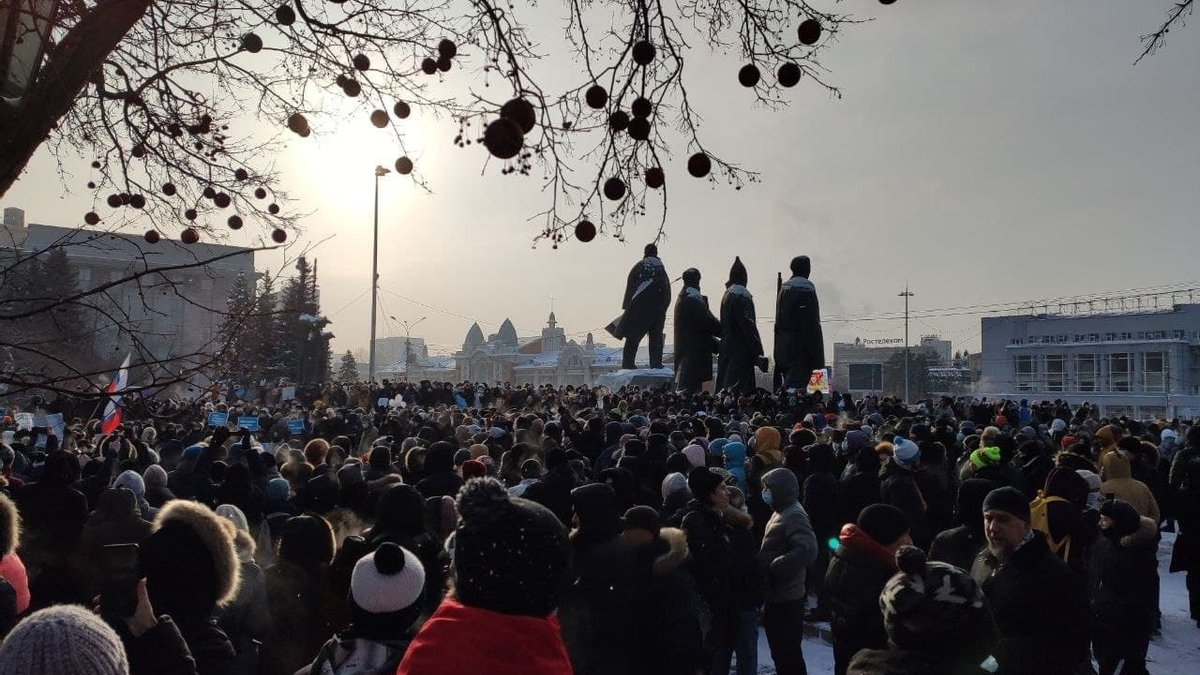 Акция протеста 23 января 2021 года в России фото (7)