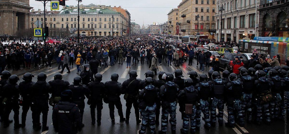 Акция протеста 23 января 2021 года в России фото (9)