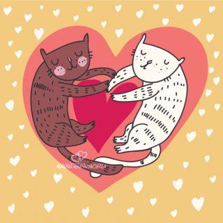 Красивые открытки на 14 февраля День Влюбленных для любимых (16)