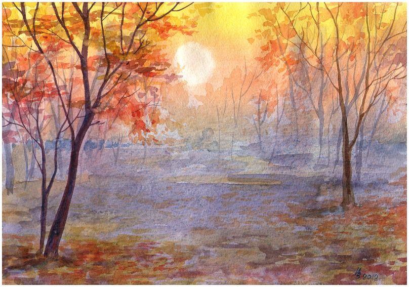 Закат осенью - самые лучшие рисунки и изображения (11)