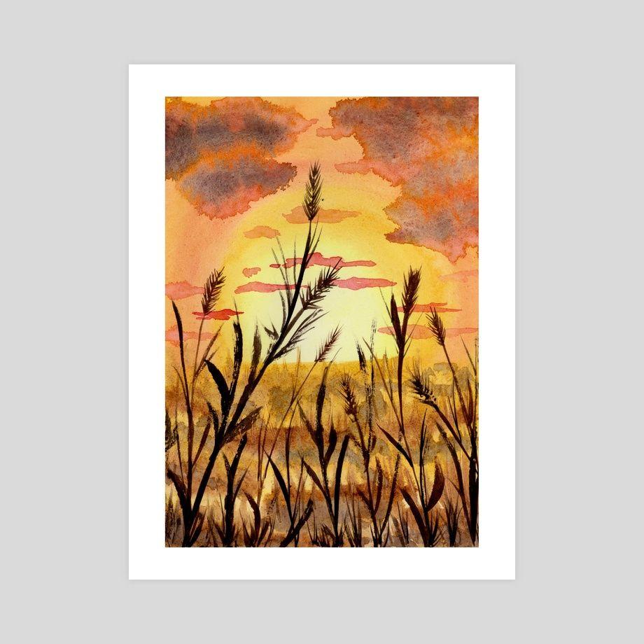 Закат осенью - самые лучшие рисунки и изображения (15)