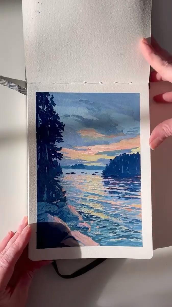 Закат осенью   самые лучшие рисунки и изображения  (17)