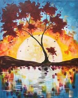 Закат осенью - самые лучшие рисунки и изображения (2)