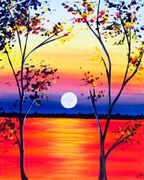Закат осенью - самые лучшие рисунки и изображения (23)