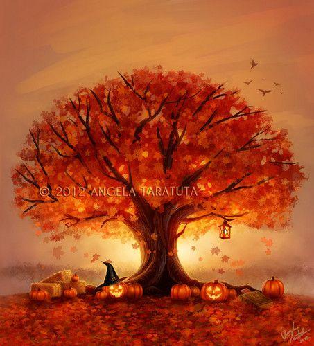Закат осенью - самые лучшие рисунки и изображения (25)