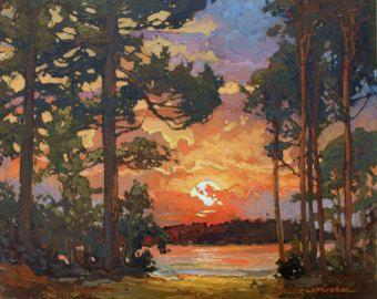 Закат осенью - самые лучшие рисунки и изображения (28)