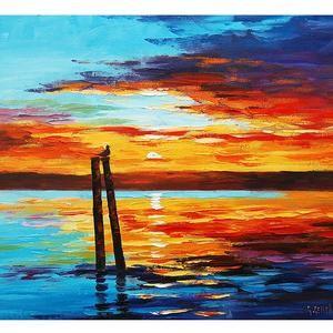 Закат осенью - самые лучшие рисунки и изображения (29)