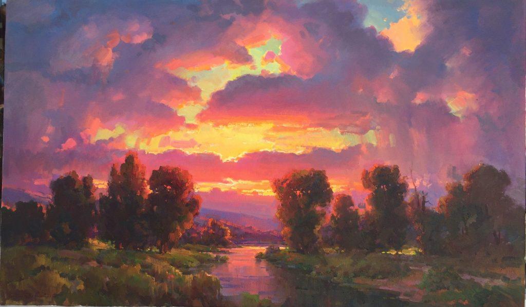 Закат осенью - самые лучшие рисунки и изображения (4)