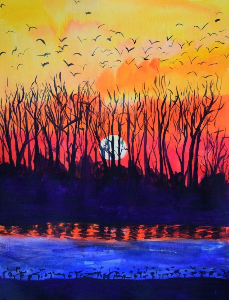 Закат осенью - самые лучшие рисунки и изображения (5)