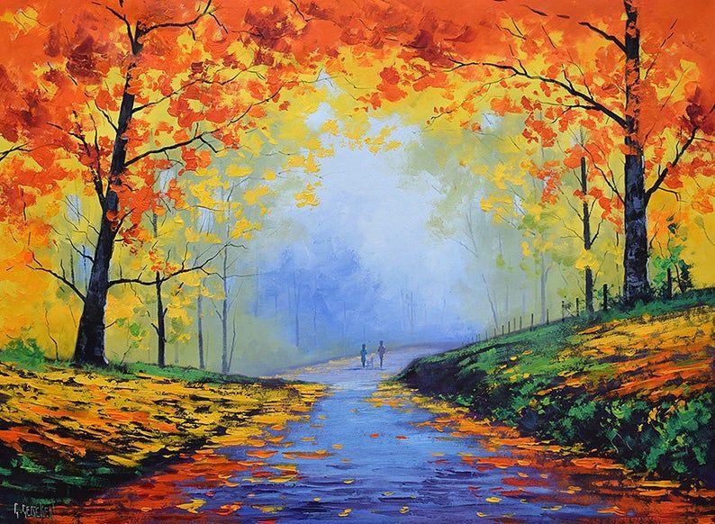 Закат осенью - самые лучшие рисунки и изображения (7)
