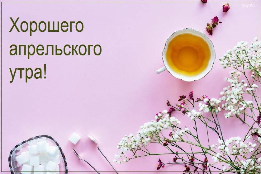 Картинки с добрым утром апрель для друзей и близких (21)