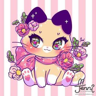 Красивые картинки для срисовки кошечки (10)