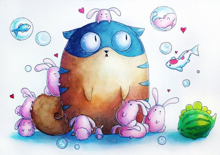 Красивые картинки для срисовки кошечки (12)
