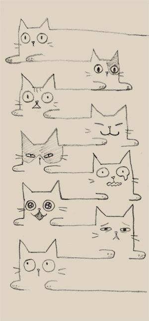 Красивые картинки для срисовки кошечки (21)