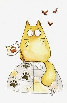 Красивые картинки для срисовки кошечки (4)