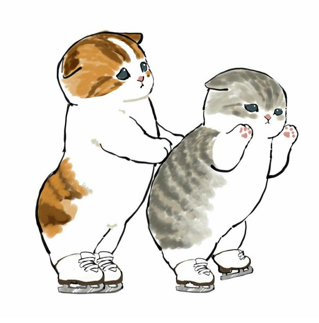 Красивые картинки для срисовки кошечки (8)