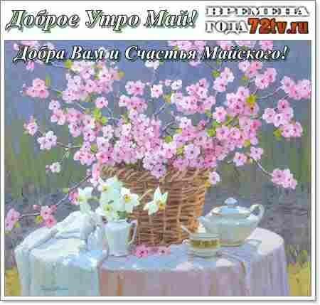 Красивые открытки с добрым майским утром - подборка (2)