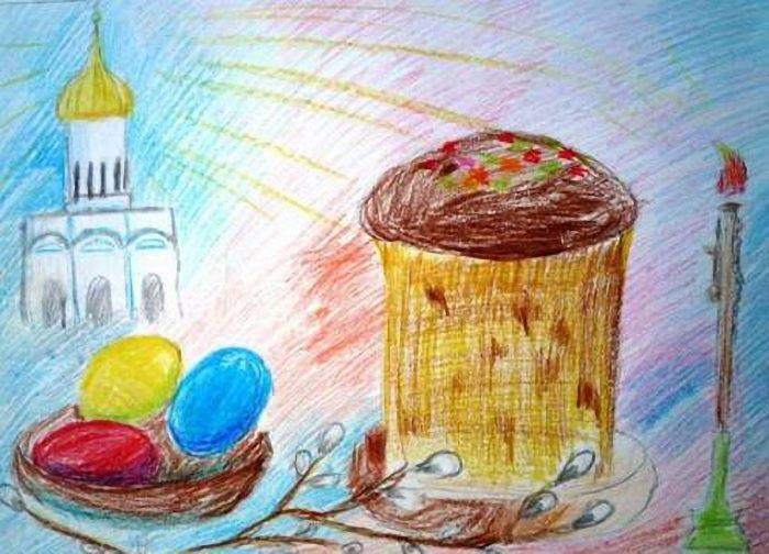 Красивые рисунки для детей на тему Пасхи (1)