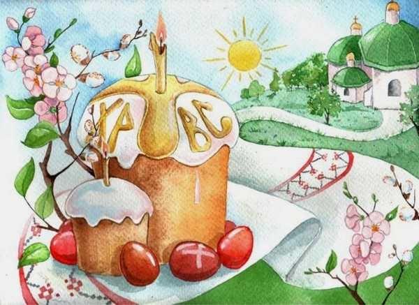 Красивые рисунки для детей на тему Пасхи (10)