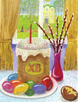 Красивые рисунки для детей на тему Пасхи (16)