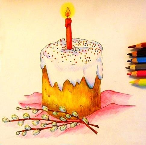 Красивые рисунки для детей на тему Пасхи (17)