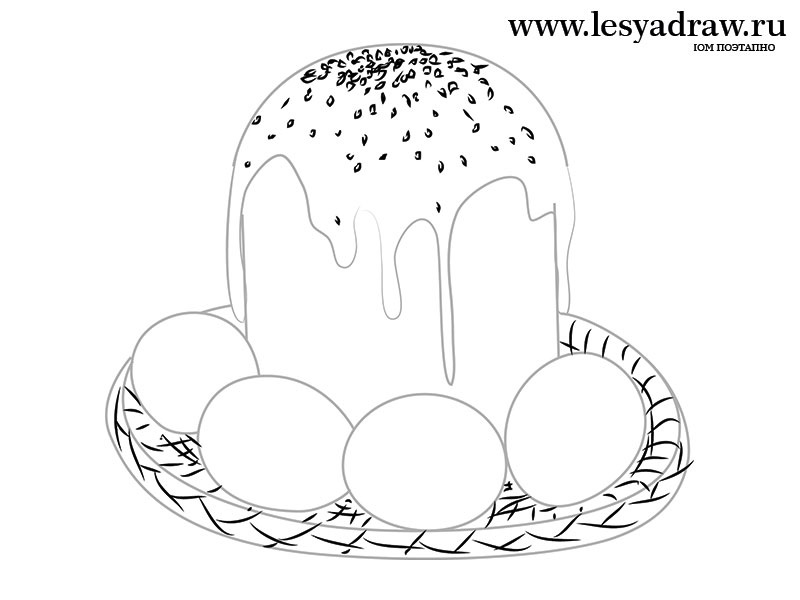 Красивые рисунки для детей на тему Пасхи (18)