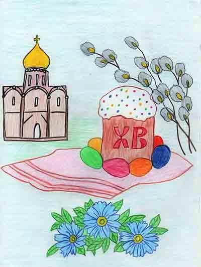 Красивые рисунки для детей на тему Пасхи (21)