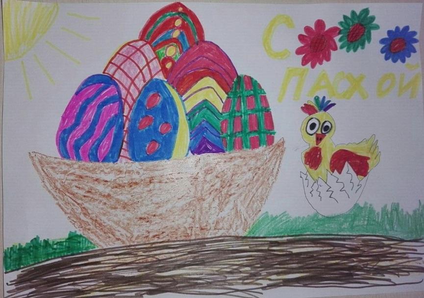 Красивые рисунки для детей на тему Пасхи (28)