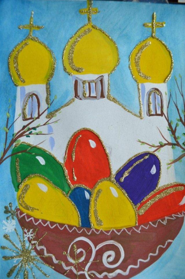 Красивые рисунки для детей на тему Пасхи (29)