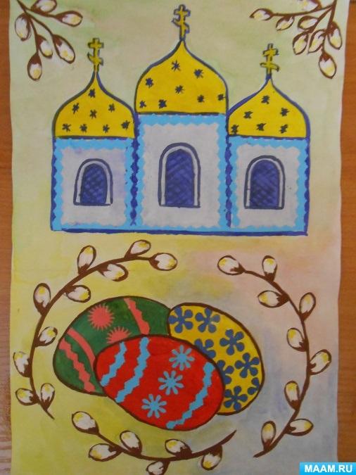 Красивые рисунки для детей на тему Пасхи (31)