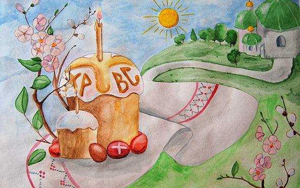 Красивые рисунки для детей на тему Пасхи (4)