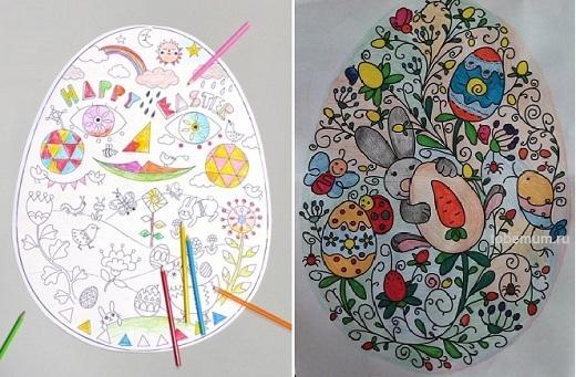 Красивые рисунки для детей на тему Пасхи (6)