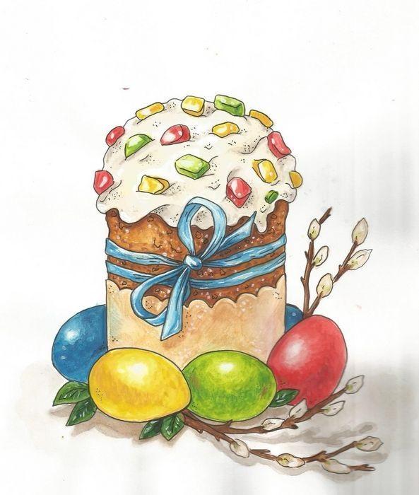 Красивые рисунки для детей на тему Пасхи (7)