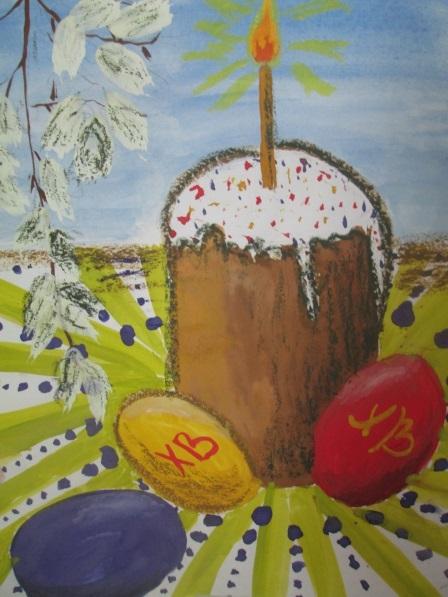 Красивые рисунки для детей на тему Пасхи (8)