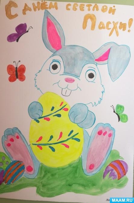 Красивые рисунки для детей на тему Пасхи (9)