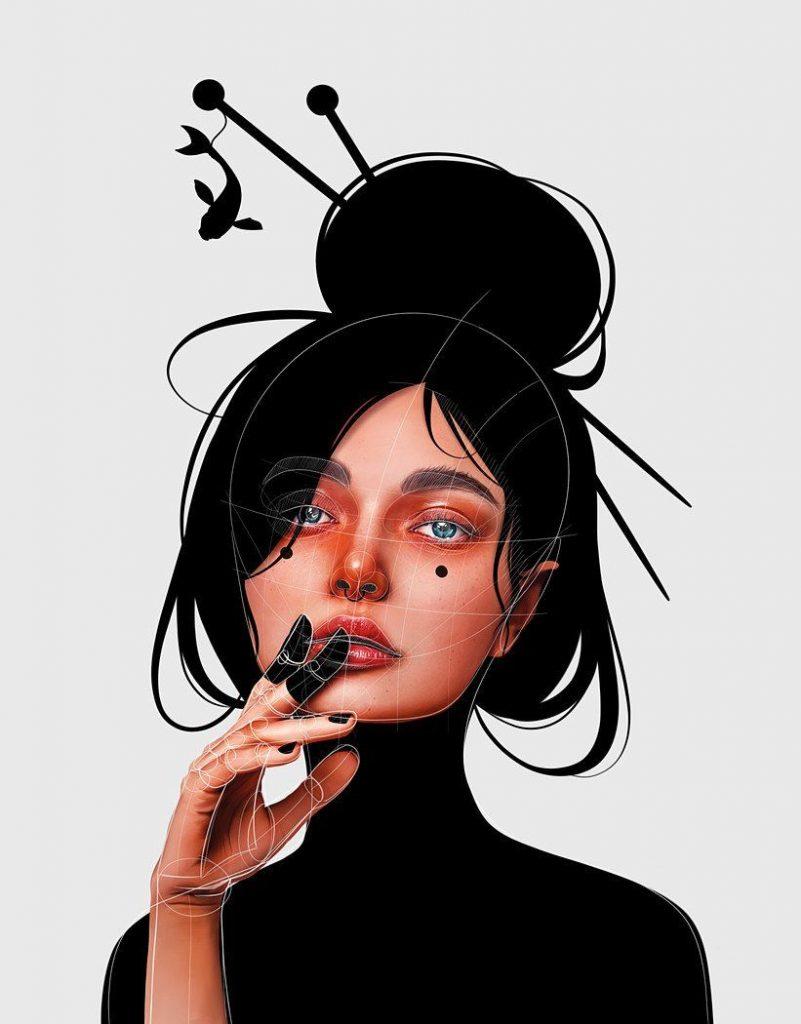 Красивые рисунки карандашом девушка в наушниках (1)