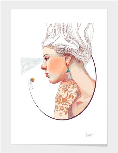 Красивые рисунки карандашом девушка в наушниках (19)