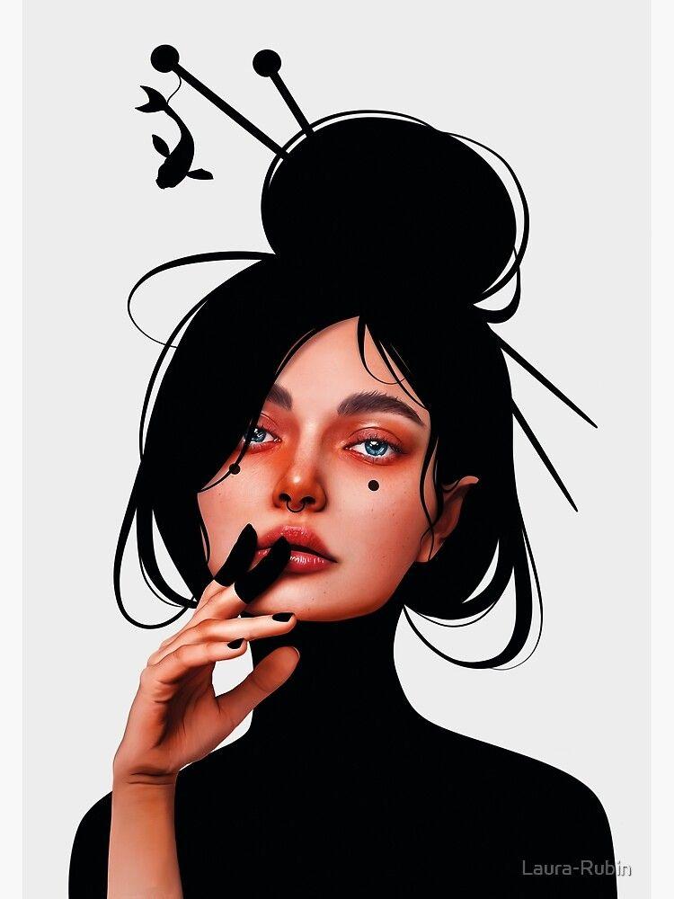 Красивые рисунки карандашом девушка в наушниках (5)