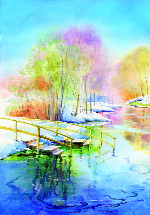 Рисунок карандашом весеннее утро - подборка 26 фото (13)