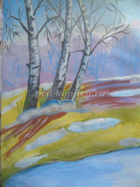 Рисунок карандашом весеннее утро - подборка 26 фото (6)