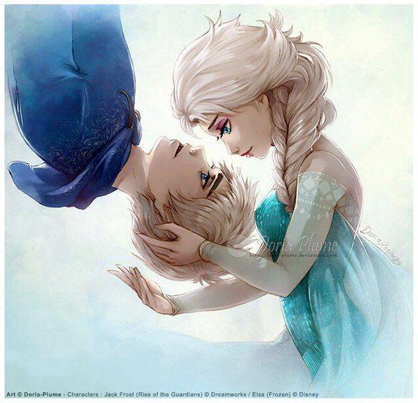 Эльза и Джек картинки их любви, красивые скетчы (10)