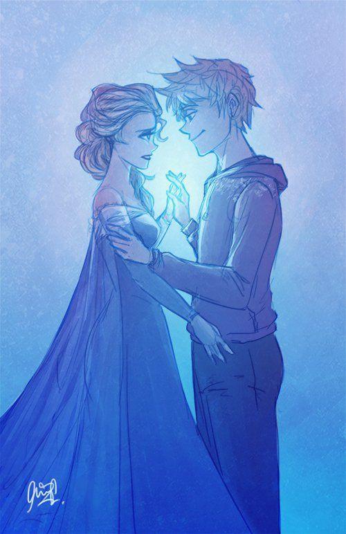 Эльза и Джек картинки их любви, красивые скетчы (11)