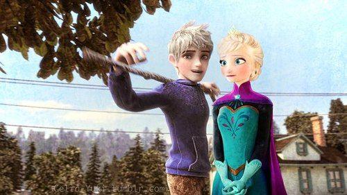 Эльза и Джек картинки их любви, красивые скетчы (14)