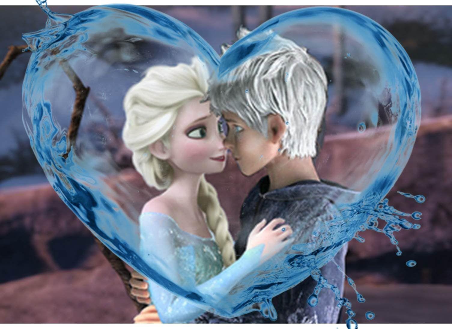 Эльза и Джек картинки их любви, красивые скетчы (2)