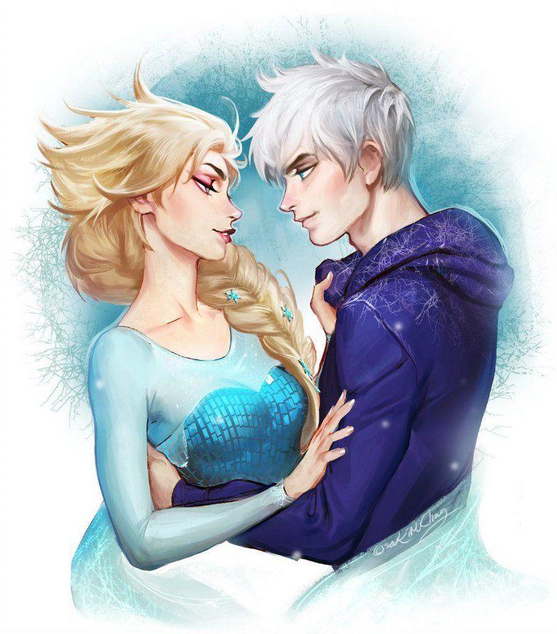 Эльза и Джек картинки их любви, красивые скетчы (5)